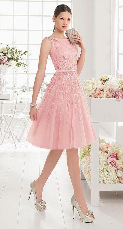 Pink short prom dress with beading!   Americanas   Pinterest ...