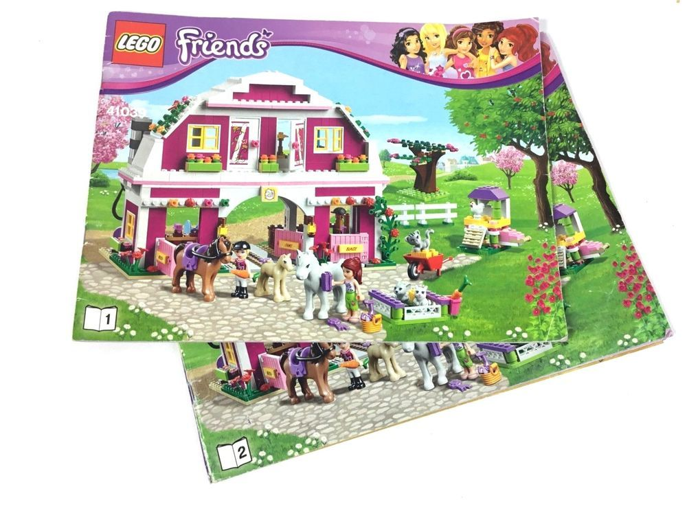 Lego Friends 41039 Sunshine Ranch Instruction Manual 1 2 Book Set