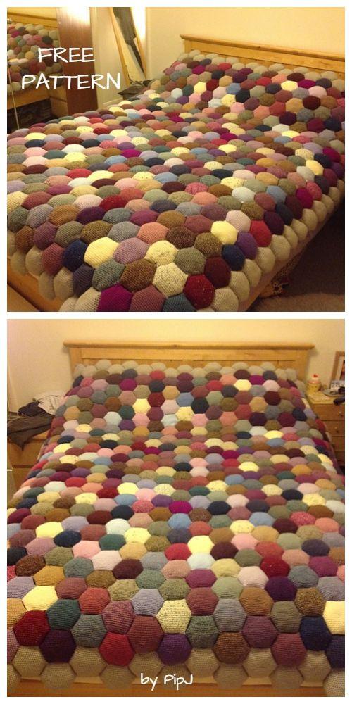 Diy Crochet Puff Stitch Blanket Free Pattern Hakeldecken Muster