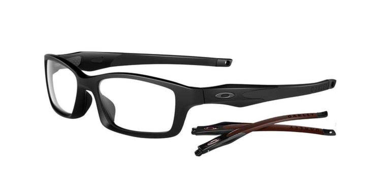 3841658f888be ... satin black frame e5efa 7ac9a  ireland oakley crosslink prescription  glasses 55 eyesize sportrx 85e77 13da9