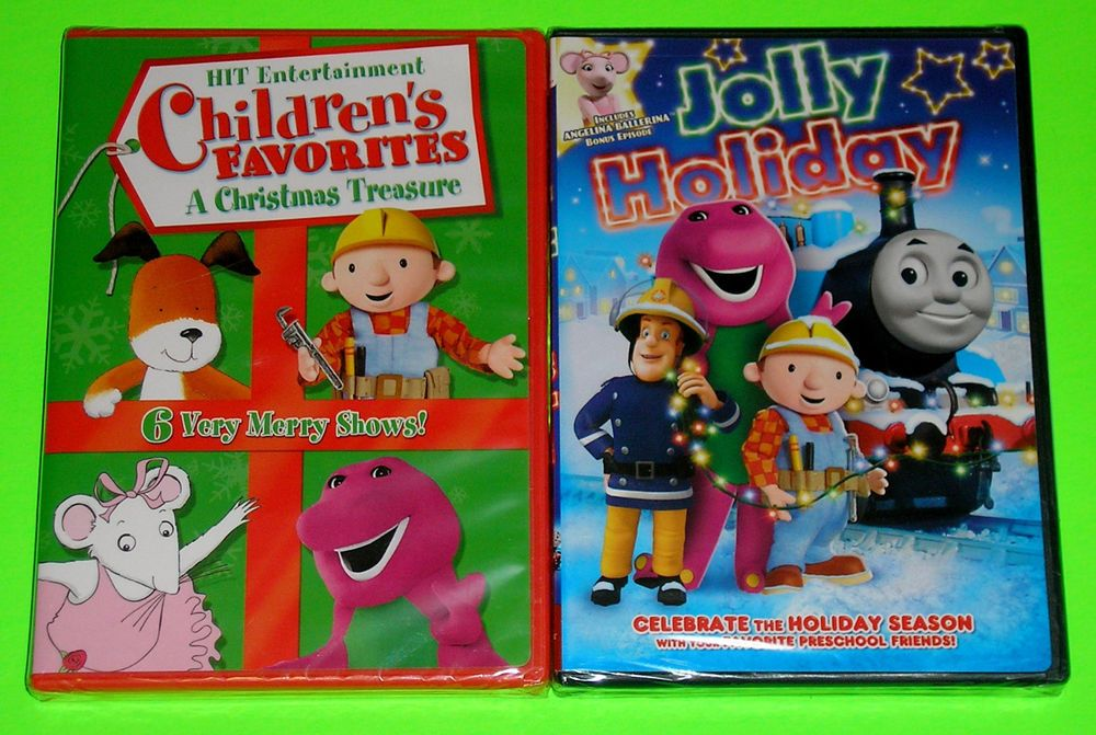 Kid Holiday DVD Lot 2 Holiday DVDs (New) Barney Angelina