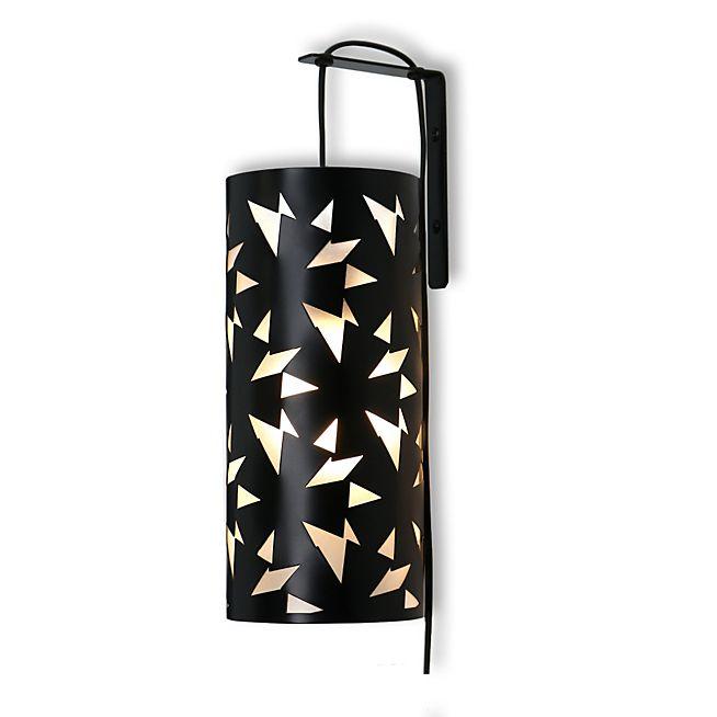 Maguy Applique murale en acier noir motifs géométriques H27cm
