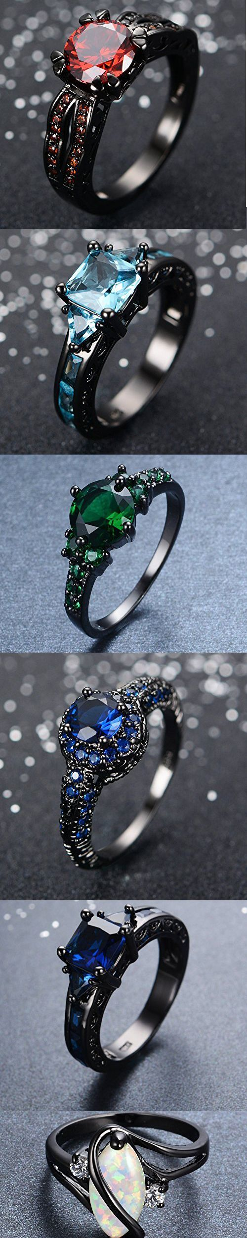 gothic inspired black gold wedding engagement rings steam