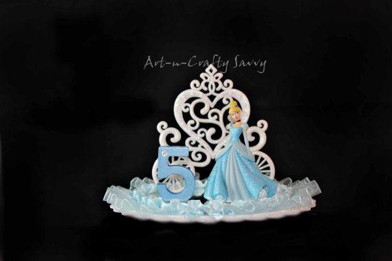 Cinderella Birthday Cake Topper 5 Birthdays and Princess party