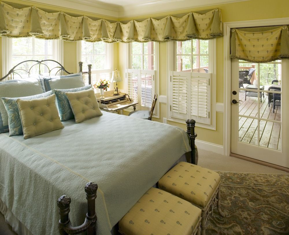 Master bedroom entry doors  Terrific natural light for a guest bedroom See the what they spent