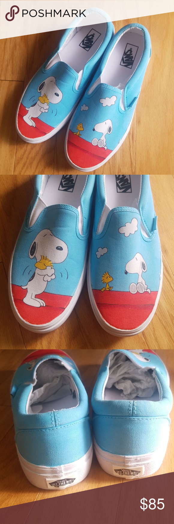 687d1a87585 NWT Vans x Peanuts Snoopy Sneakers Slip On Shoes Vans x Peanuts Rare Snoopy  and Woodstock sneaker. Mens size 9 and Womens size 10.5 Vans Shoes Sneakers