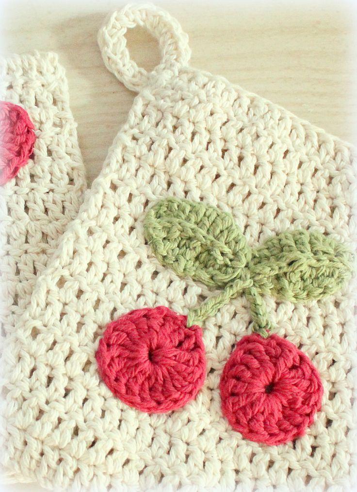 Pot holder free pattern. http://thestitchpattern.blogspot.com ...