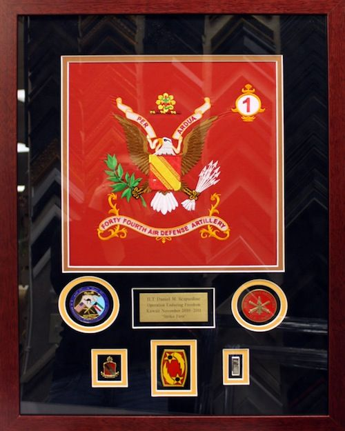 Defense Artillery Awards and Honors placed inside custom frame ...
