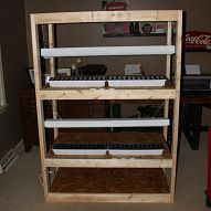 How To Build An Indoor Seed-Starting Rack - Che... For the last few years, in the late winter months, our dining room table transforms into our seed starting area -... I need one of this!