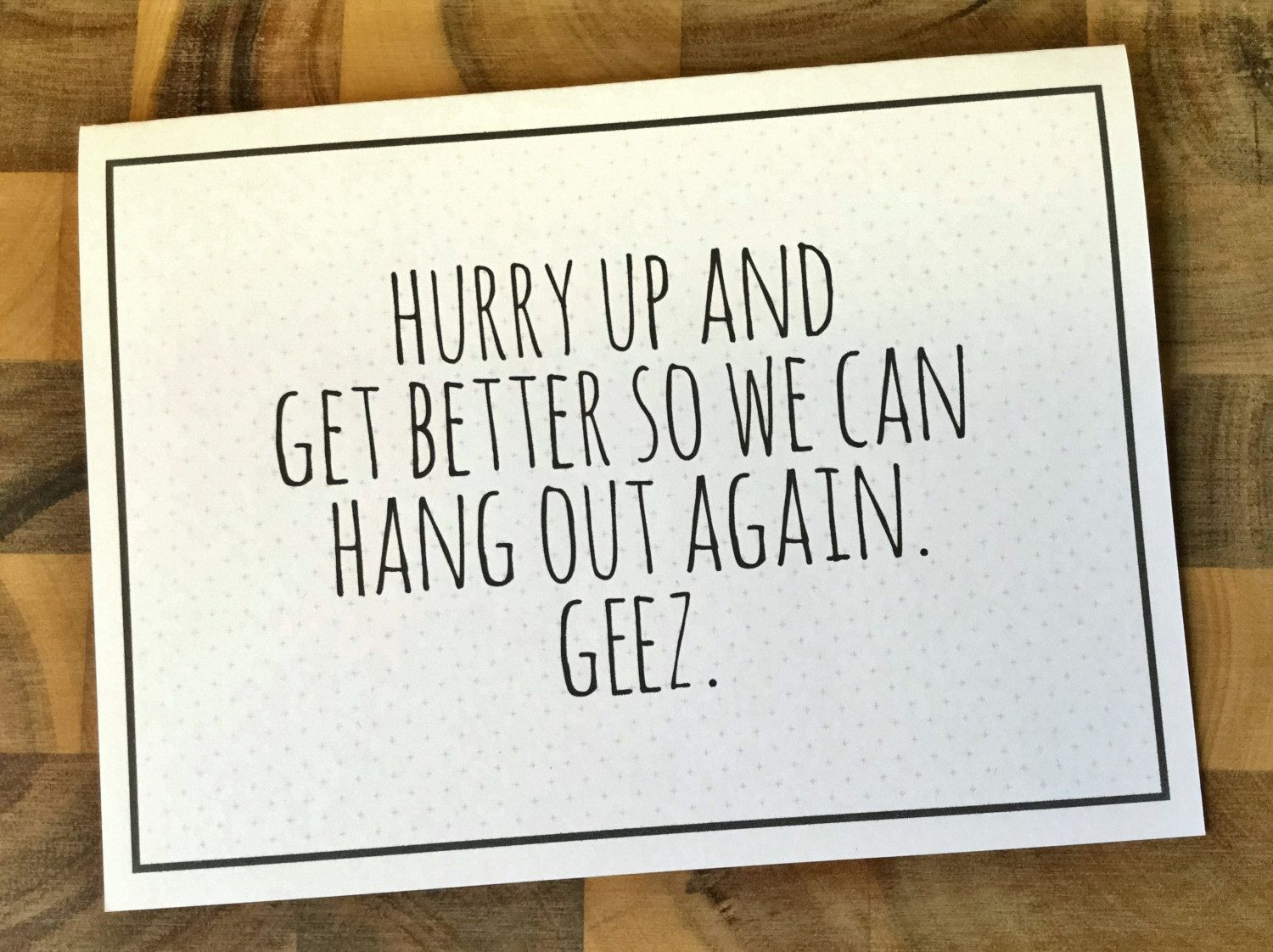 Funny Get Well Card Funny Miss You Card Get Well Soon Card Etsy Funny Get Well Cards Miss You Cards Get Well Messages