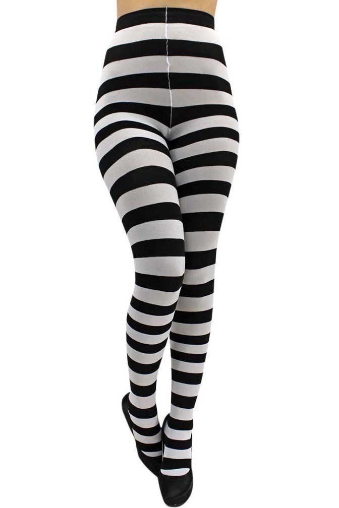0e154adb61aae Horizontal Striped Tights   B&W Opt Art, Stripes,Lines,Fashion ...