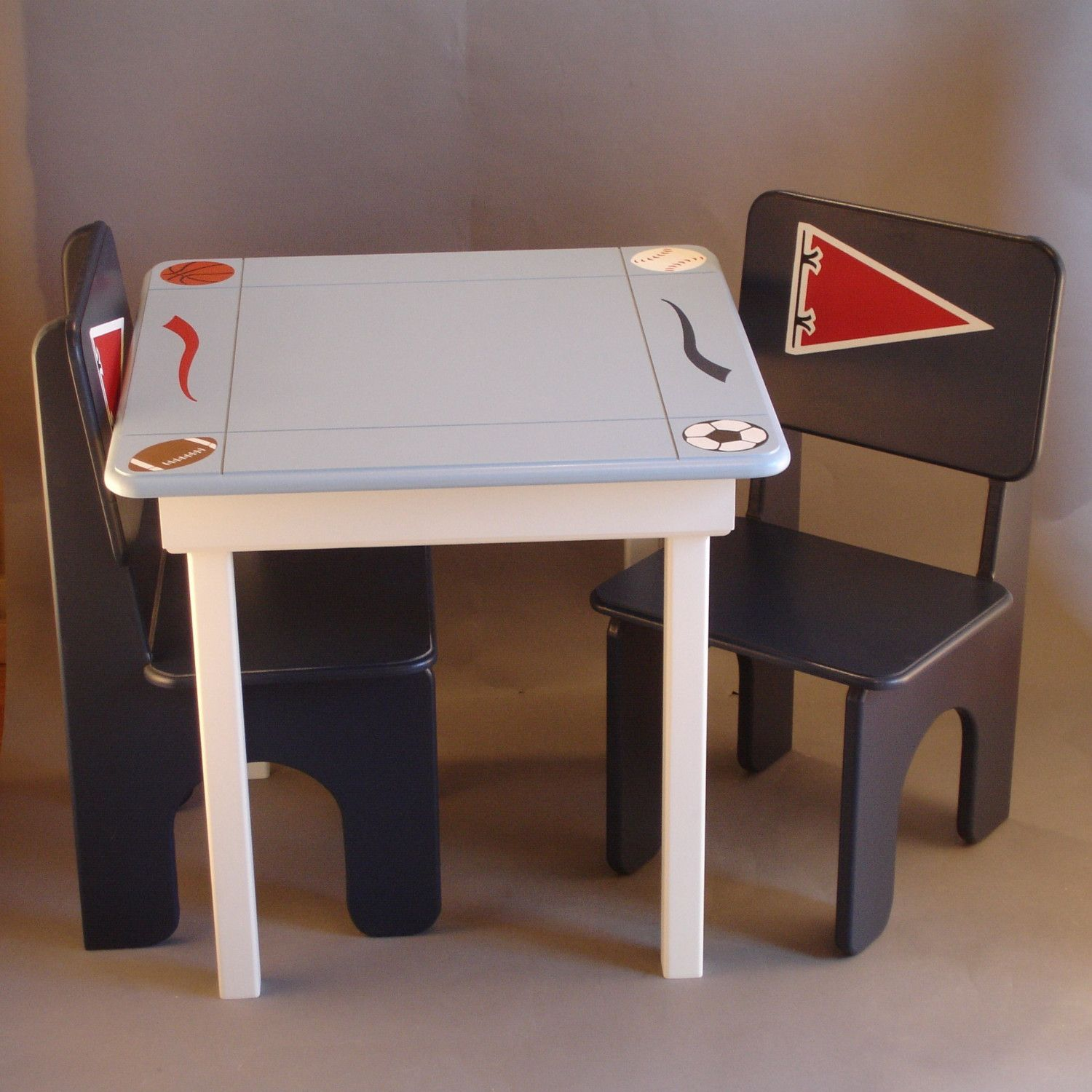 Football Soccer Boys Table And Chairs Four By