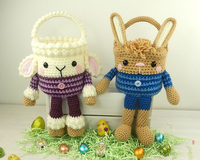 Fun Easter Basket Crochet Patterns Free Paid Frees Fun And