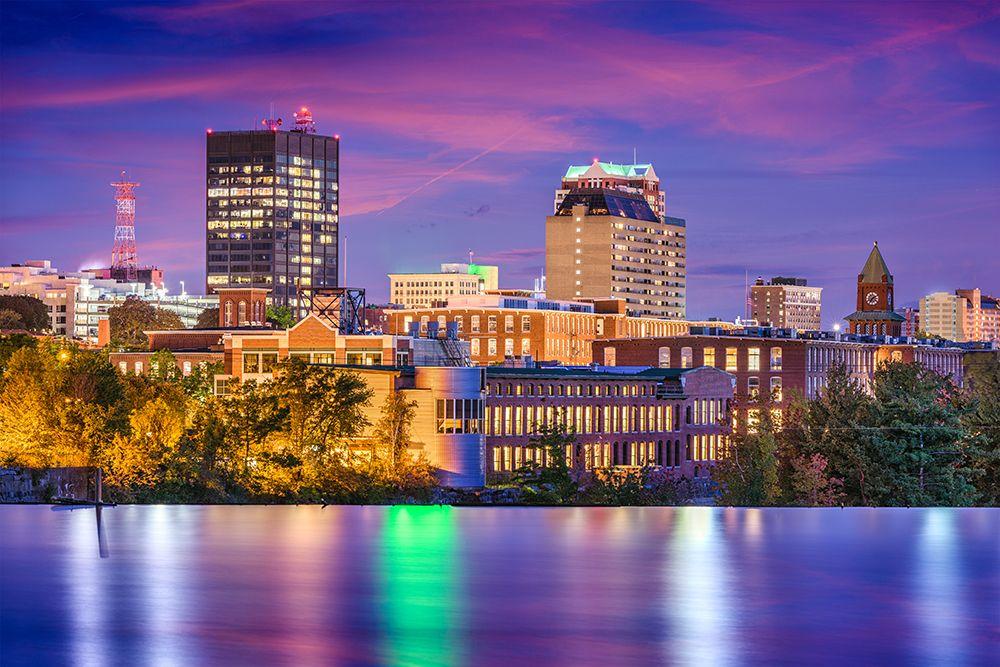Manchester, New Hampshire Skyline. New hampshire, Nashua