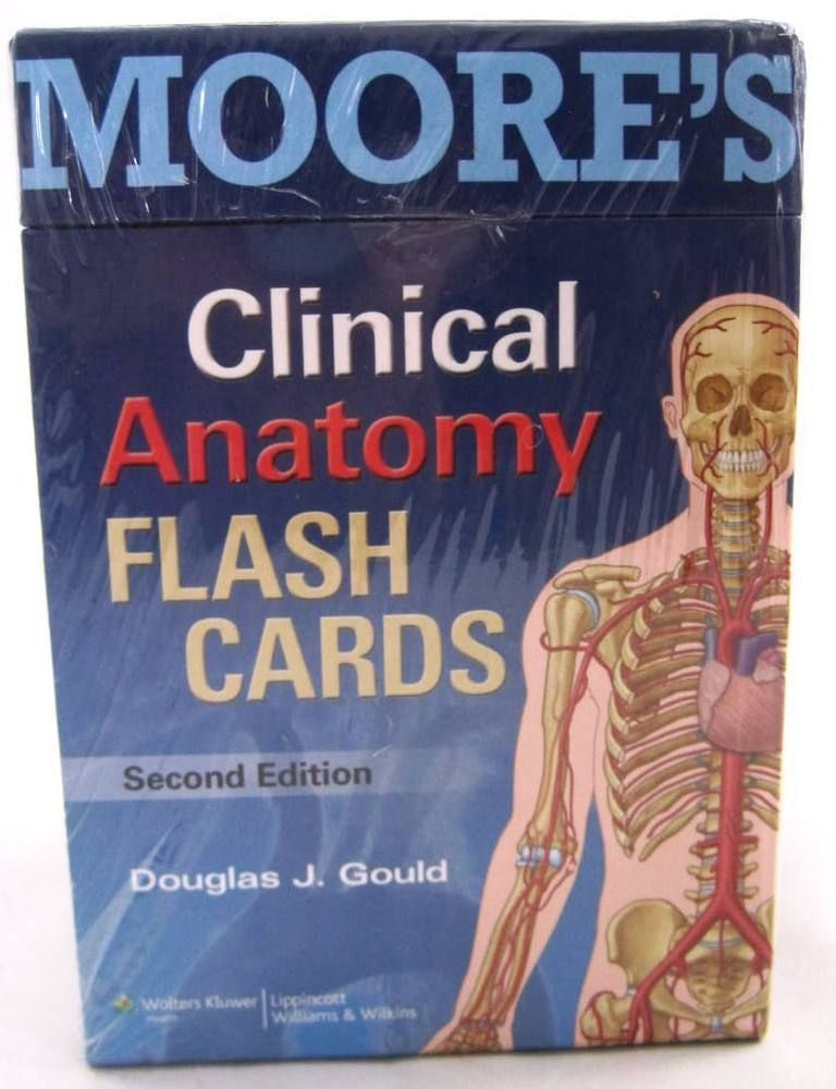 NEW Moore\'s Clinical Anatomy Flash Cards by Douglas J. Gould PhD ...