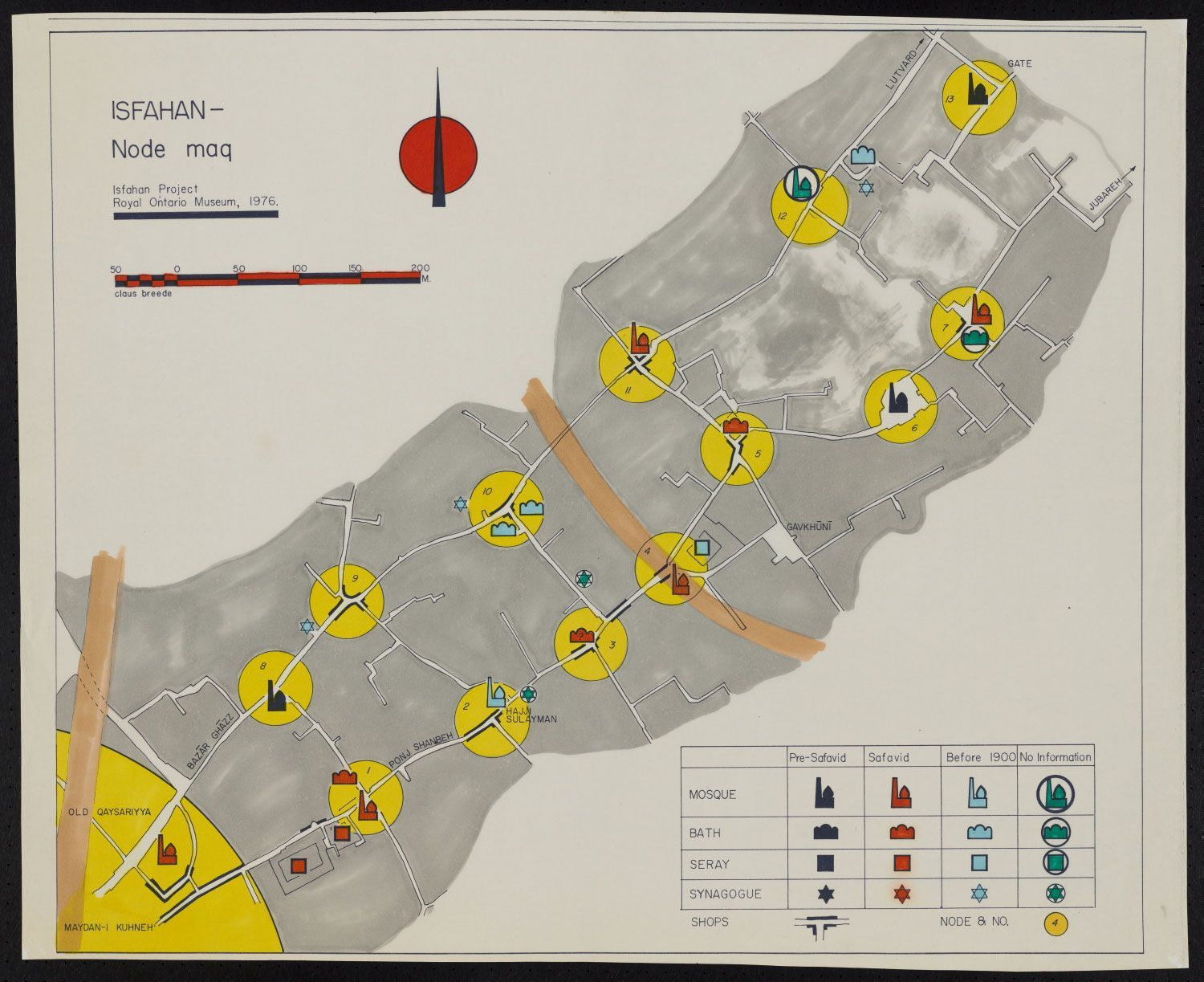 From the Isfahan Urban History Project (), a map of service ...