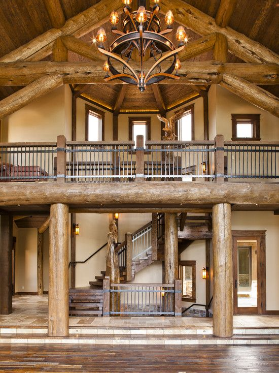 Rustic Mountian Stair Railings: Spaces Rustic Home Interior Design Design, Pictures