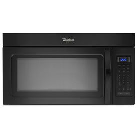 Whirlpool 1 7 Cu Ft Over The Range Microwave Black
