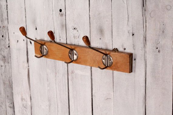 Vintage coat rack, Coat hooks, Vintage coat hook, Clothes hanger ...