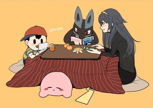Lucina, Lucario, Ness, Kirby and Pikachu | Super smash