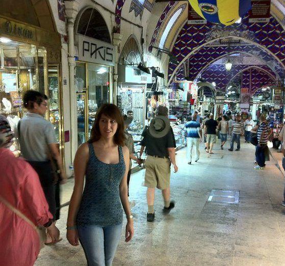 En el Gran Bazar, Estambul
