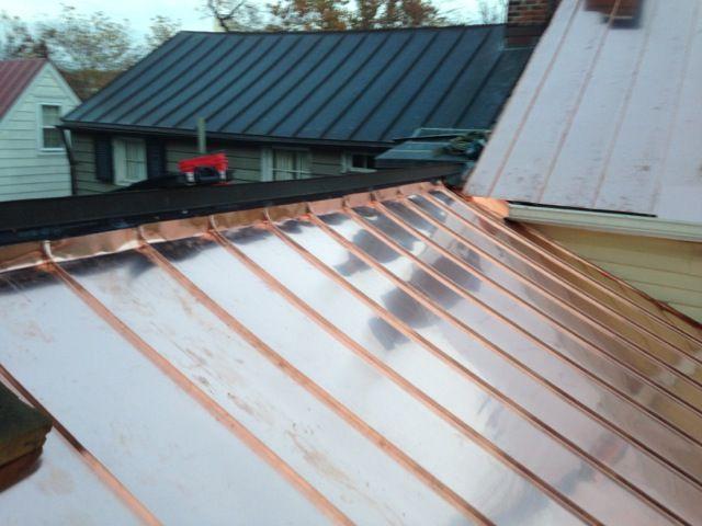 Standing Seam Copper Roof Wall Flashing Detail Varandas