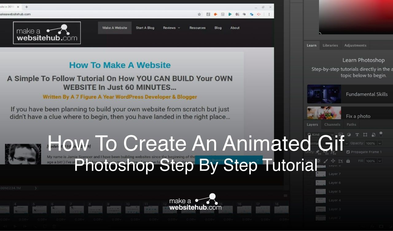 How To Create An Animated Gif With Photoshop Step By Step