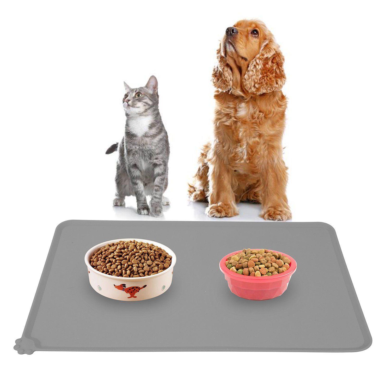 Hoosun pet food mat pet silicone bowl mat pet feeding mat