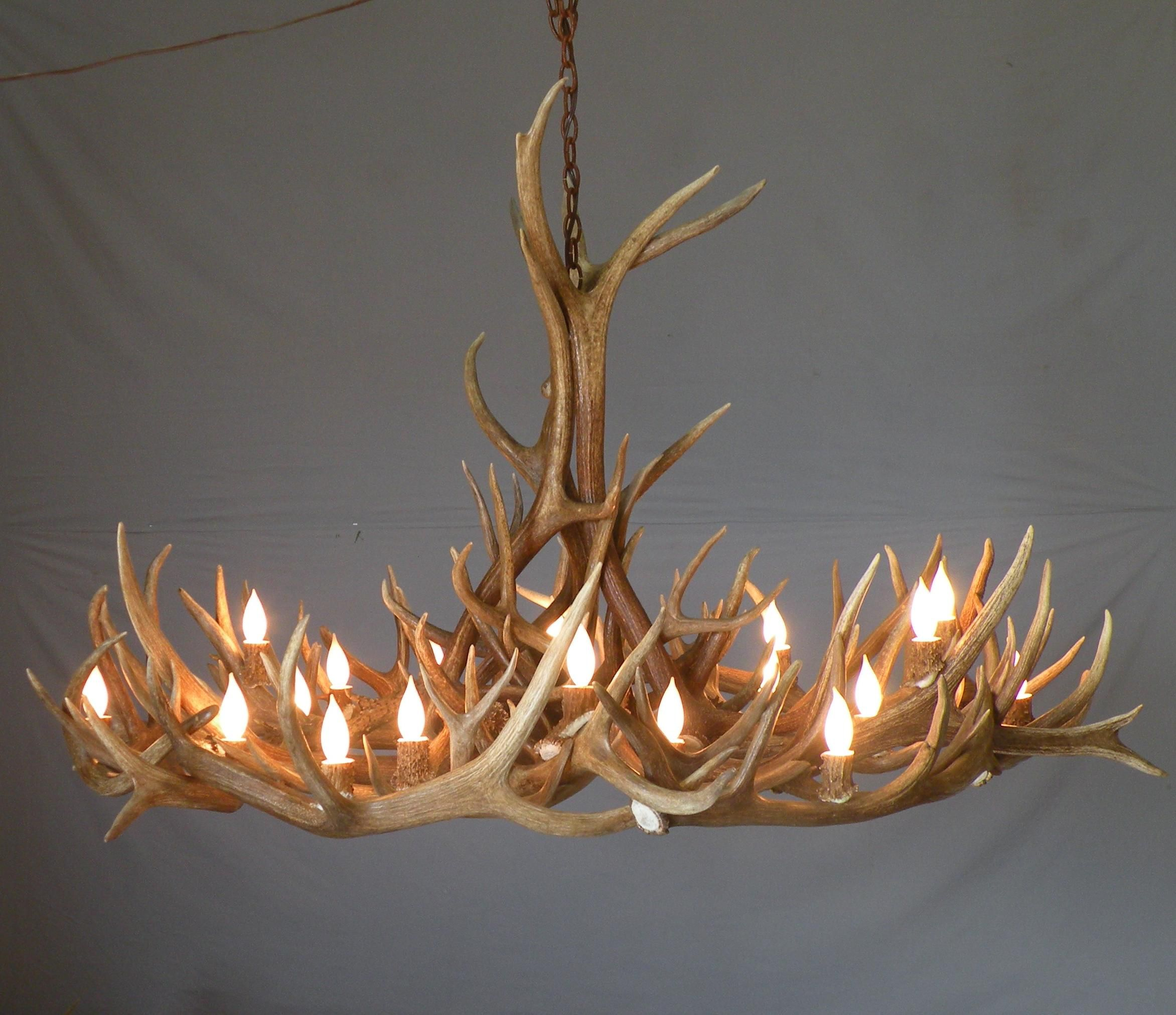 Antler Chandeliers by WDC returning artist Peak Antlers – Elk Antler Chandelier