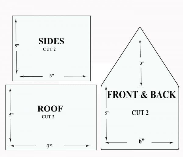 Gingerbread House Patterns #gingerbreadhousetemplate