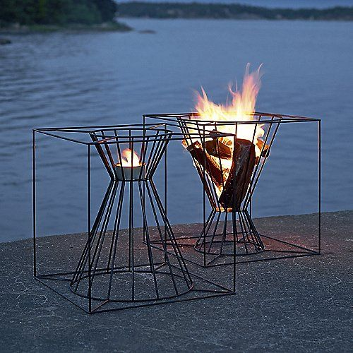 Boo Fire Basket with Metal Plate is part of Fire pit backyard - Purchase the Boo Fire Basket with Metal Plate by Skargaarden today at Lumens com  Free shipping on orders $75 or more and guaranteed low prices