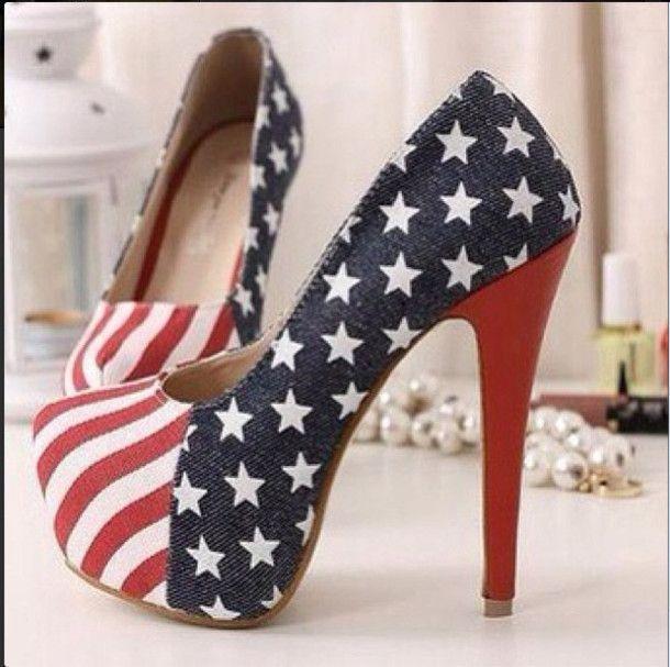 4th Of July High Heels   ... american, american flag, high heels, heels, 4th of july - Wheretoget ♥♥♥♥♥