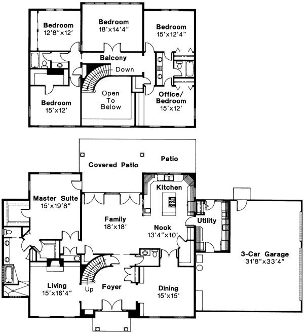 omg best house ever 5 bed bath 2 story house plan turn bedroom into a movie room and the bedroom into the office - 3 Bedroom House Plans With Rec Room