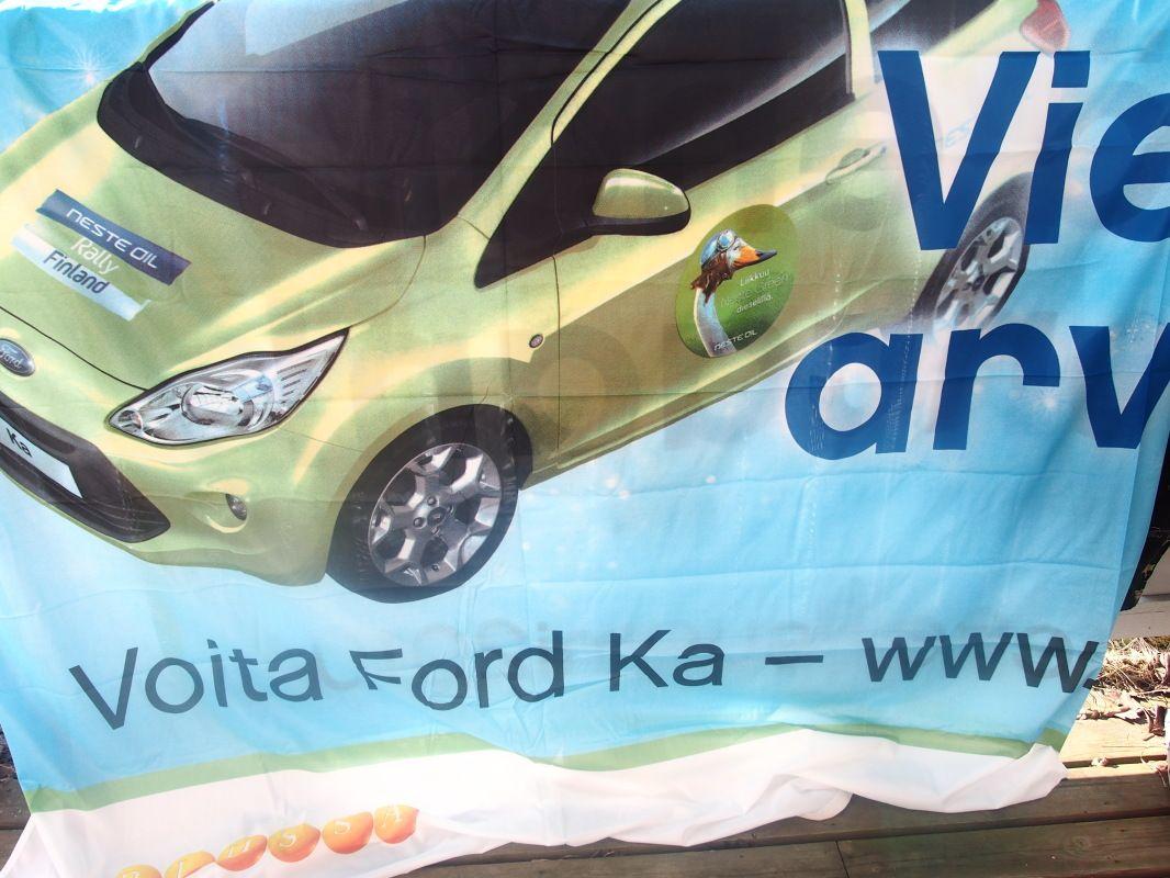 Banderolli Neste Oil Rally Finland Ford Ka  Huuto Net