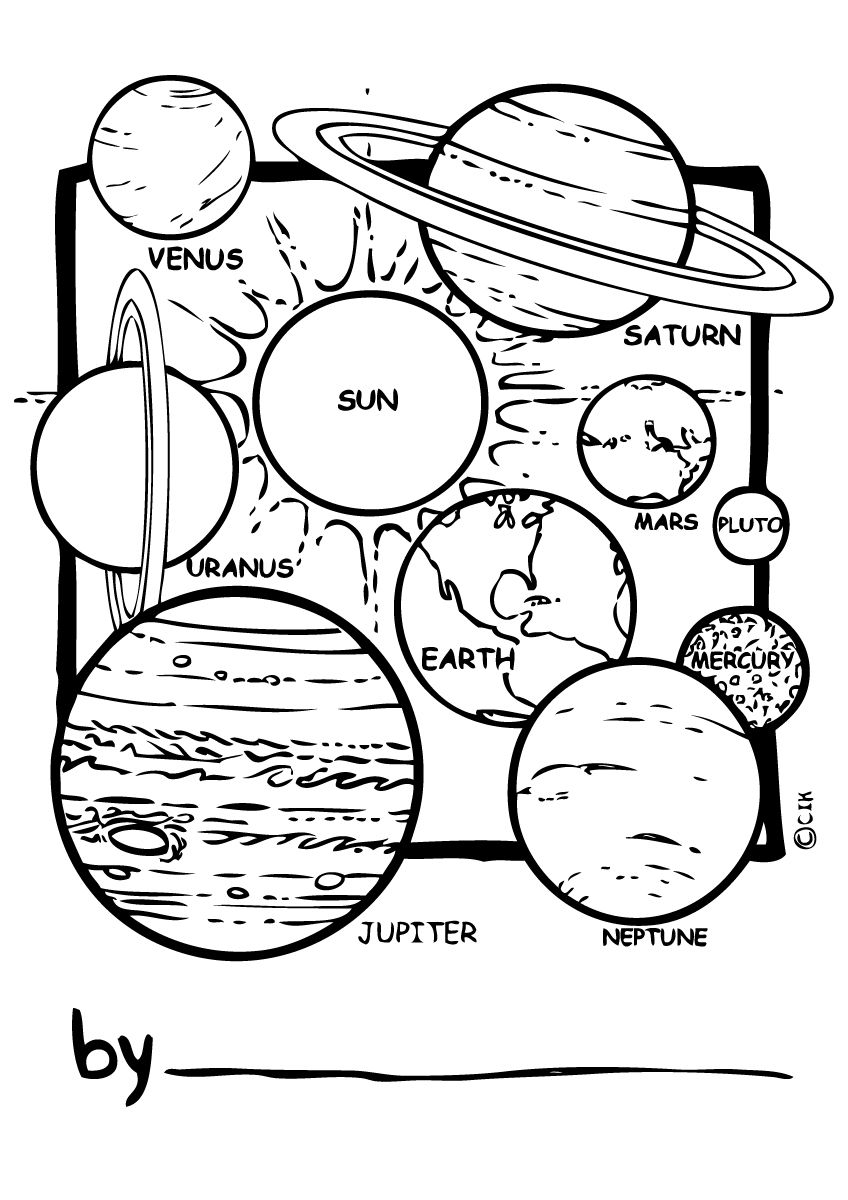 solar system coloring pictures | Coloring - Words & Sayings ...