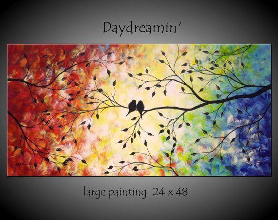 Image result for love birds canvas wall art   Art   Pinterest   Bird ...