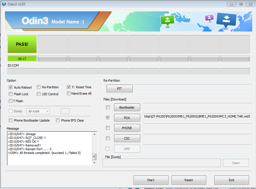How To Flash or Update GT-P6200 To Android 4 1 2 Using Odin Flasher