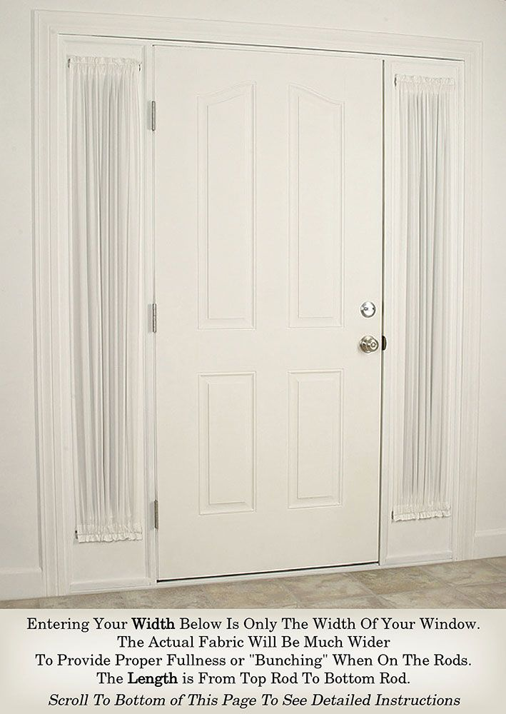 Spring Rods For French Doors And Curtain Door Panels 10 To 22