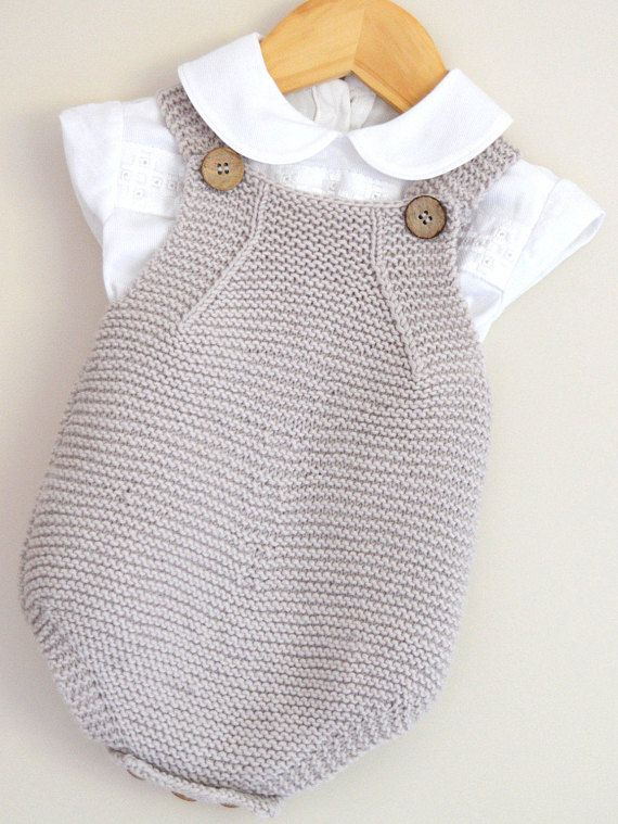 KNITTING PATTERN-Spring into Summer, baby all-in-one romper and jacket - P095
