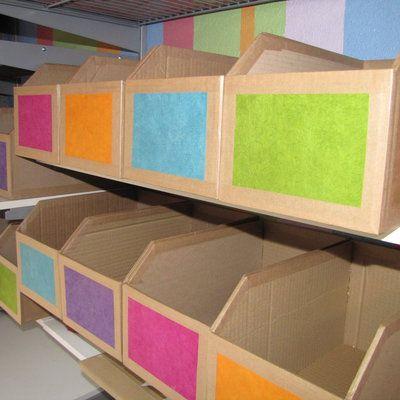 Fabriquer un casier de rangement en carton