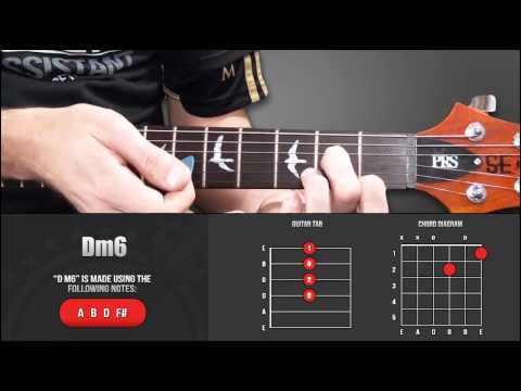 Guitar Chord Library : D Chords - Dm6 - YouTube   Guitar Chords - \