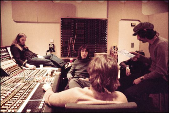 Pink Floyd. The recording of Wish You Were Here album. Abbey Road Studios, London, September 1975. Photo by Jill Furmanovsky.