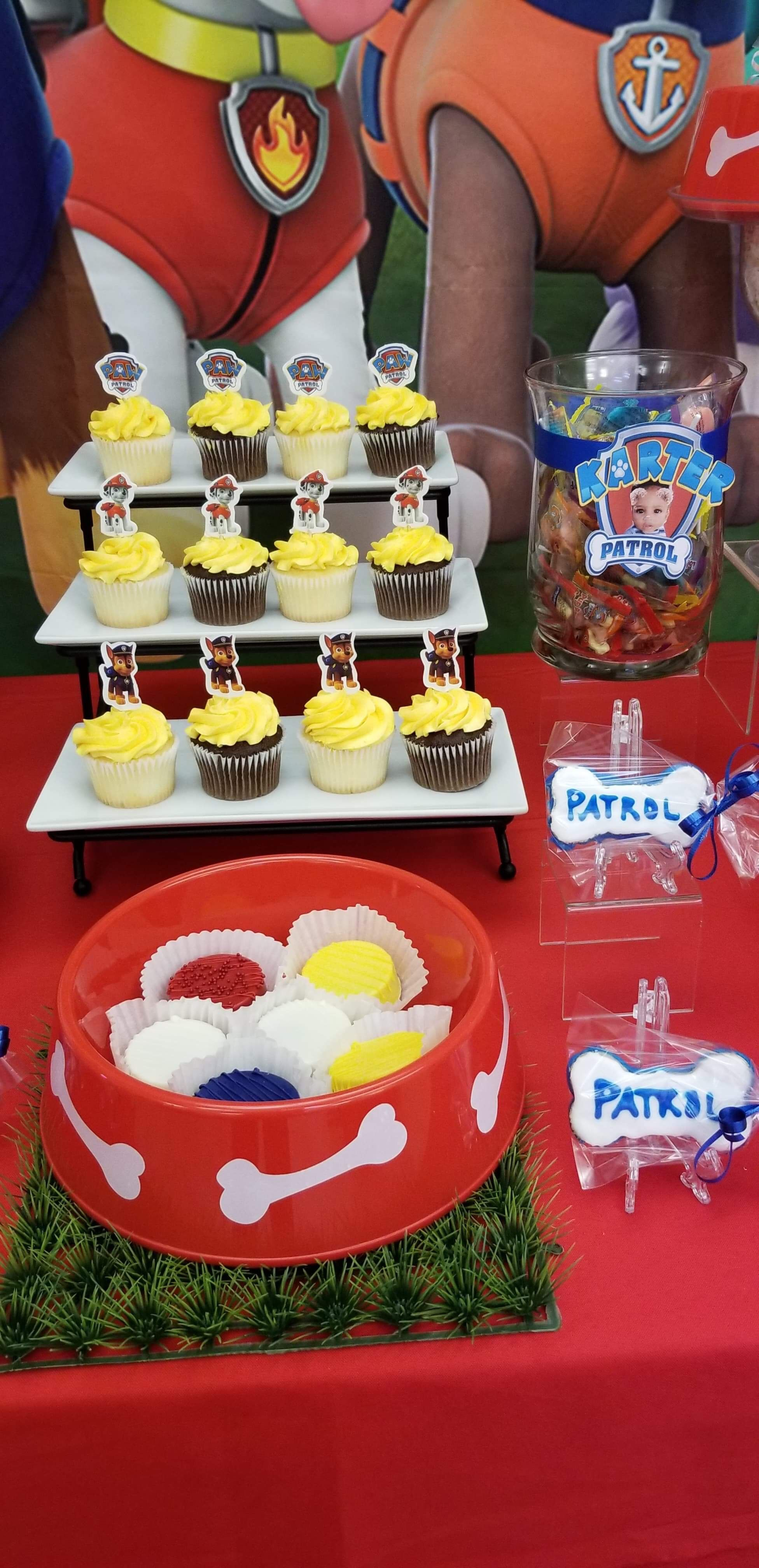 Miraculous Paw Patrol 1St Birthday Dessert Table Dessert Table Birthday Funny Birthday Cards Online Amentibdeldamsfinfo