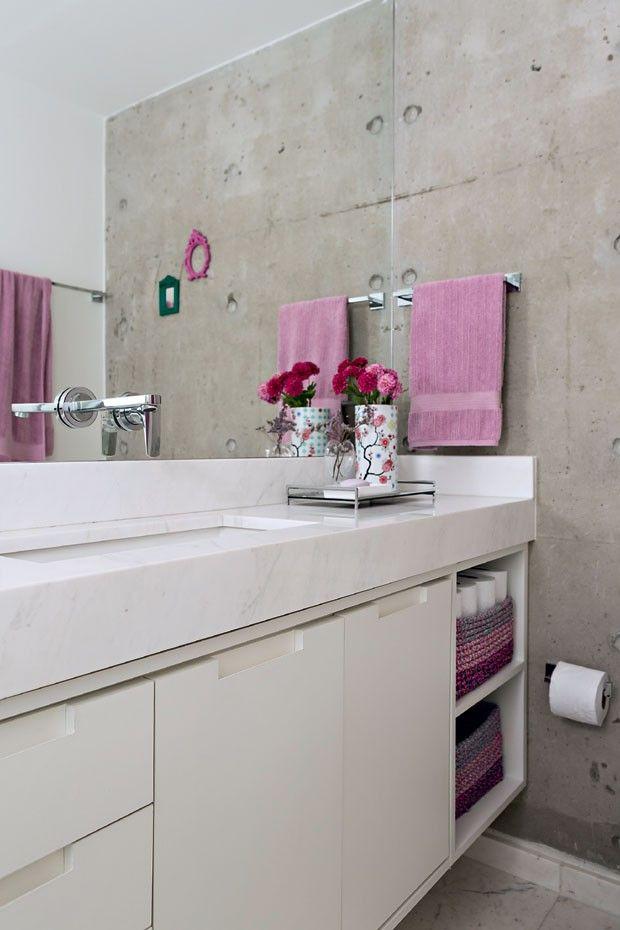 Cor na decora o apartamento pequeno mistura rosa azul e for Banos modernos para apartamentos pequenos