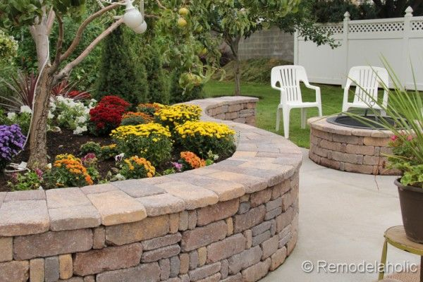Diy Curved Seat Wall And Fire Pit Wall Seating Outdoor Outdoor Fire