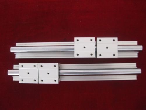 4Pcs SBR12UU Bearing Blocks 2Pcs SBR12 200mm Linear Slide Guide Shaft Rail
