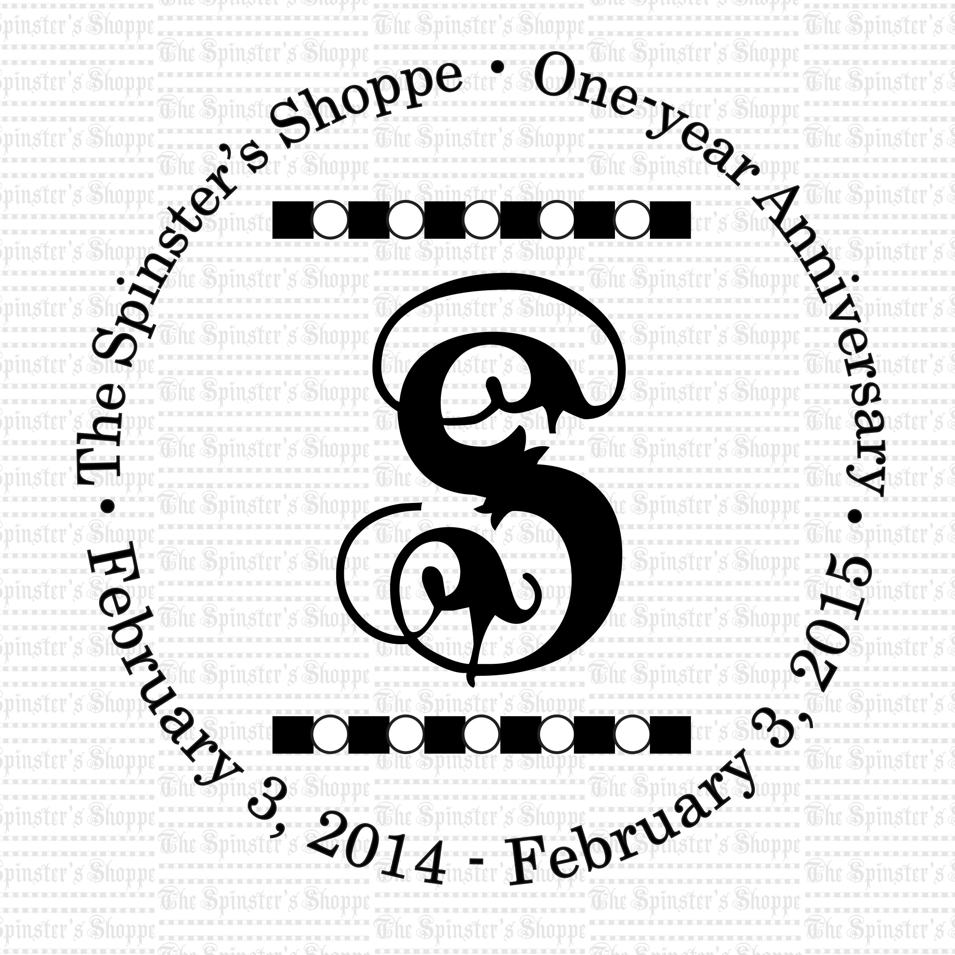 The Spinster's Shoppe turns one year old today! Thanks for your support! To show my appreciation, use coupon code ONEYEAR to take 14% off your order at http://spinstershoppe.co through Valentine's Day, Feb. 14. Enjoy!