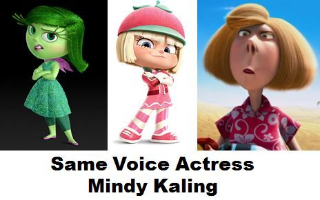 Mindy Kaling From Inside Out Wreck It Ralph And Despicable Me Mindy Kaling Mindy Lord Dominator