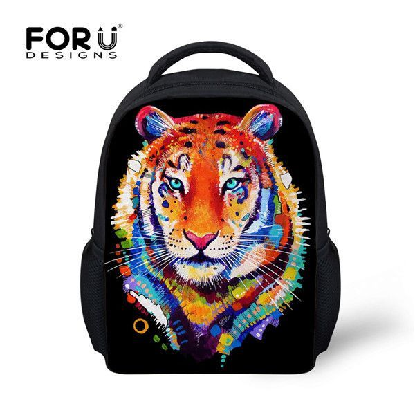 890f988db173 Retro Children School Bag Tiger Wolf Dog Owl Cat Head Mini Bags Kids  Backpacks Baby Kindergarten Toddler Backpack For Boys Girl