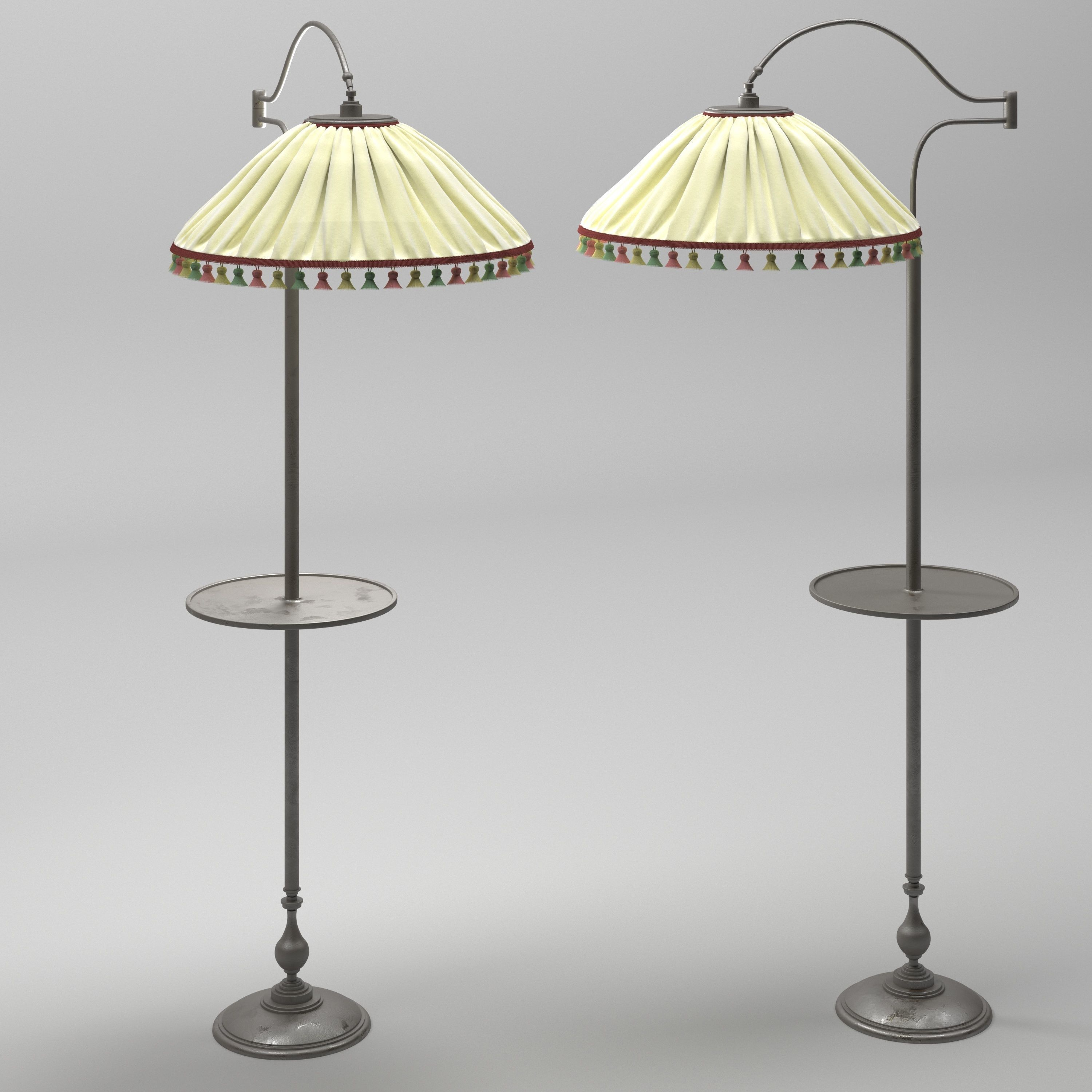 Il Paralume Marina Aletta Floor Lamp 3d Model In 2020 Floor Lamp 3d Model Lamp